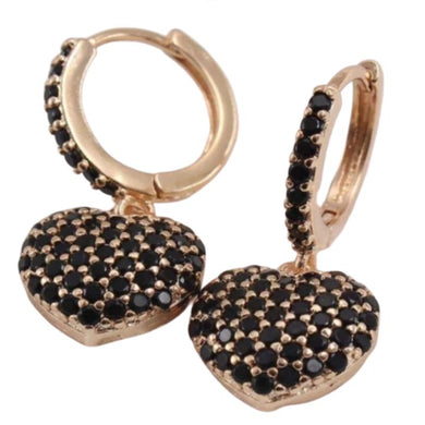 BLACK LOVER GOLD EARRINGS