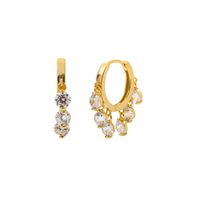 Load image into Gallery viewer, CHAMPAGNE GOLD EARRINGS