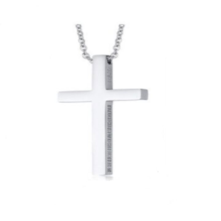 CLASSIC CROSS SILVER NECKLACE