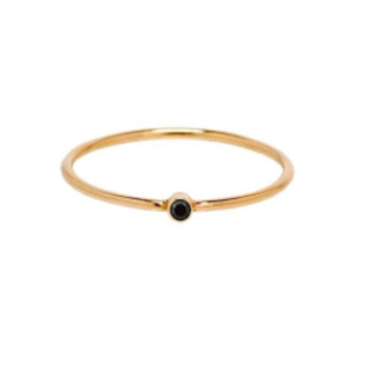 CLASSIC BLACK GOLD RING