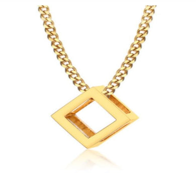 CUBE GOLD NECKLACE