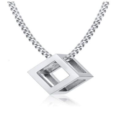 CUBE SILVER NECKLACE