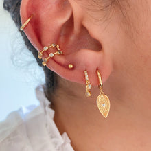 Load image into Gallery viewer, PAVE HEX EAR CUFF - GOLD