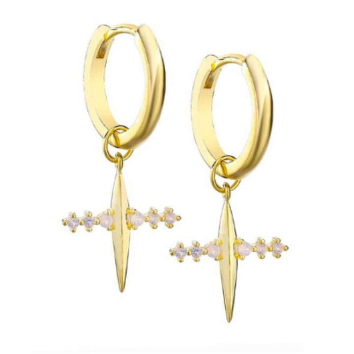DOMA OPAL  GOLD EARRINGS