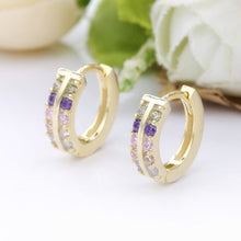 Load image into Gallery viewer, DOUBLE JAZZ GOLD EARRINGS