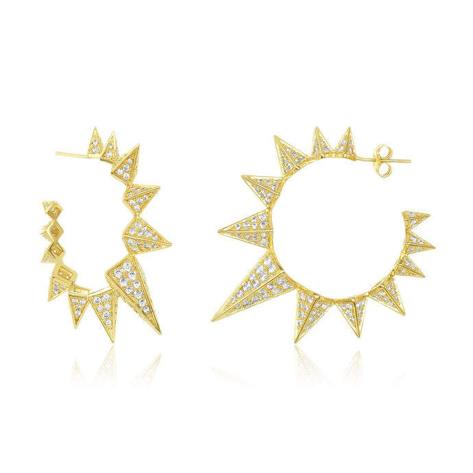 Mama Gabriella Spiked Hoop Earrings