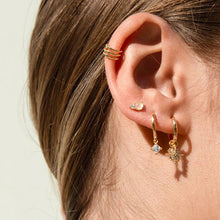Load image into Gallery viewer, FLAMINGO GOLD EARRINGS