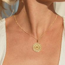 Load image into Gallery viewer, MANDALA GOLD NECKLACE