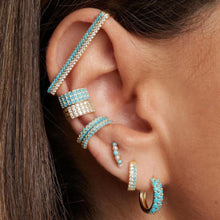 Load image into Gallery viewer, TURQUOISE EARBAR EARRING