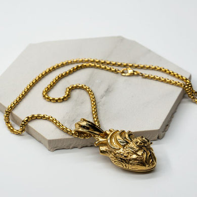 REAL HEART GOLD NECKLACE