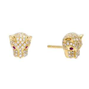 RUBY BABY JAGUAR EARRING