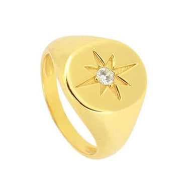 BULKY STAR GOLD RING