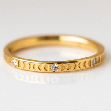 FULL MOON GOLD RING