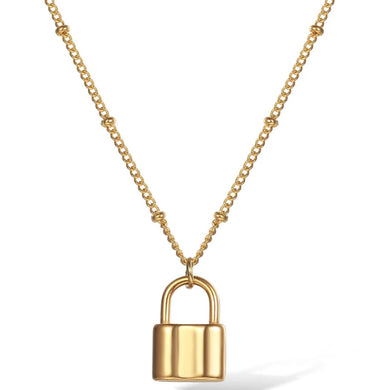 LOCKED UP GOLD NECKLACE
