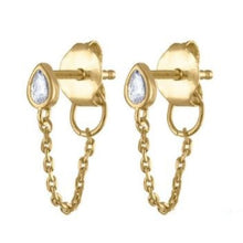 Load image into Gallery viewer, TEAR DROP GOLD EARRINGS