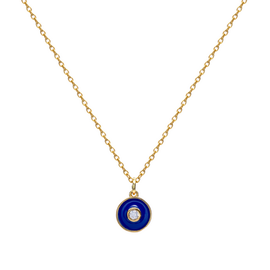 NAVY MAJEURE GOLD NECKLACE