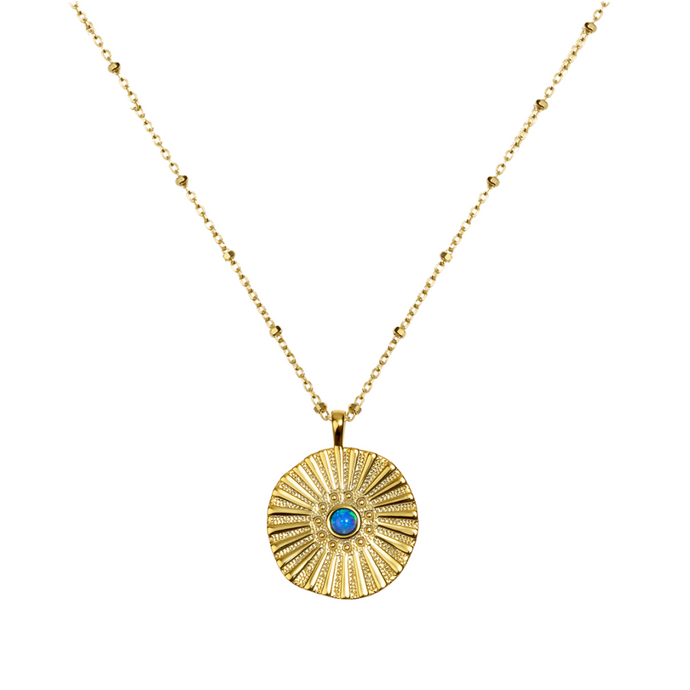 BLUEBERRY GOLD NECKLACE