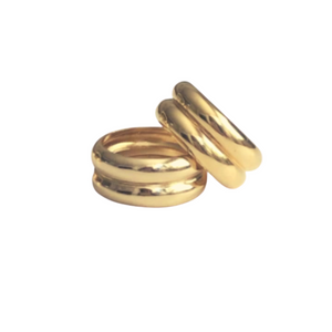 CARPE DOUBLE GOLD RING