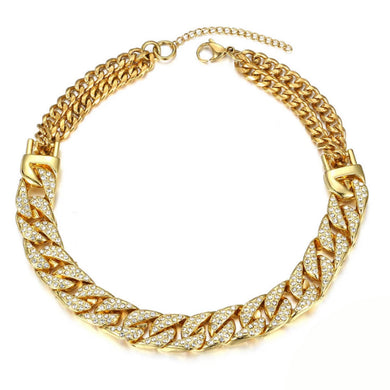 BLING GOLD CHAIN CHOKER