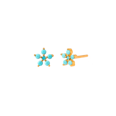 AZALEA GOLD STUD EARRINGS