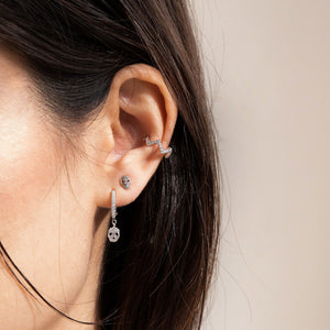 CRANIUM SILVER STUD EARRINGS