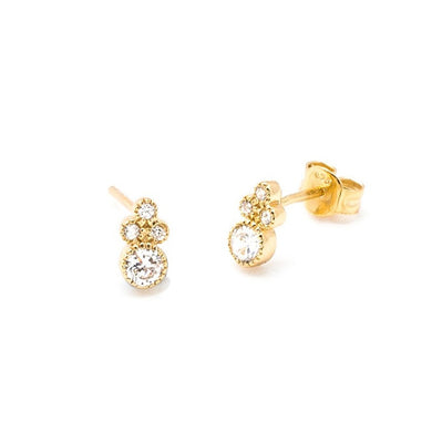 BALI GOLD STUD EARRINGS