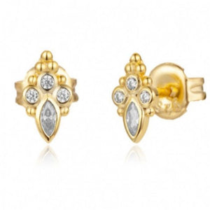 DELHI GOLD STUD EARRINGS