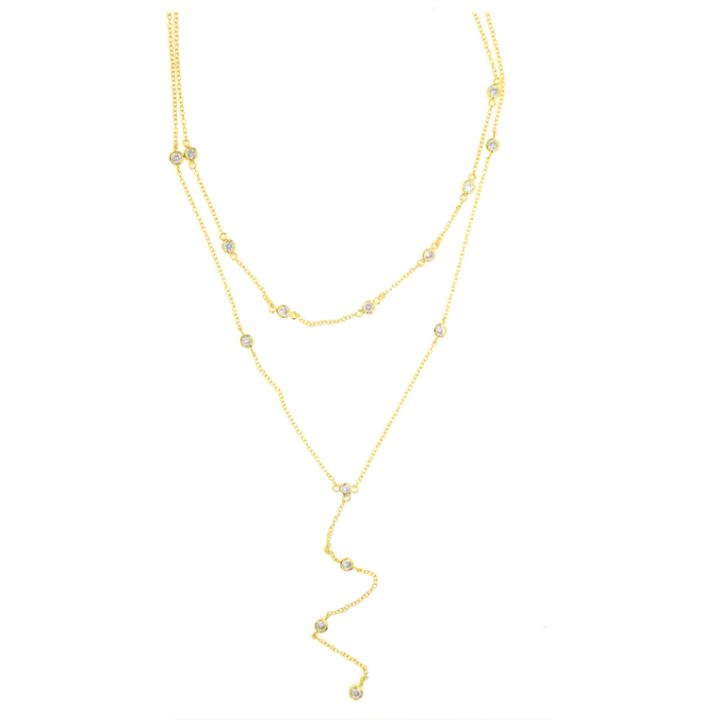 DESTINY GOLD LARIAT NECKLACE