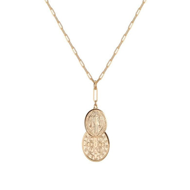 DOUBLE SAINT BENEDICT MEDAL NECKLACE