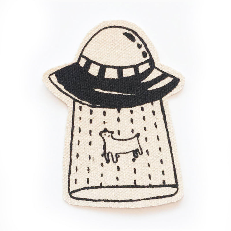 Alien Abduction Iron-On Patch