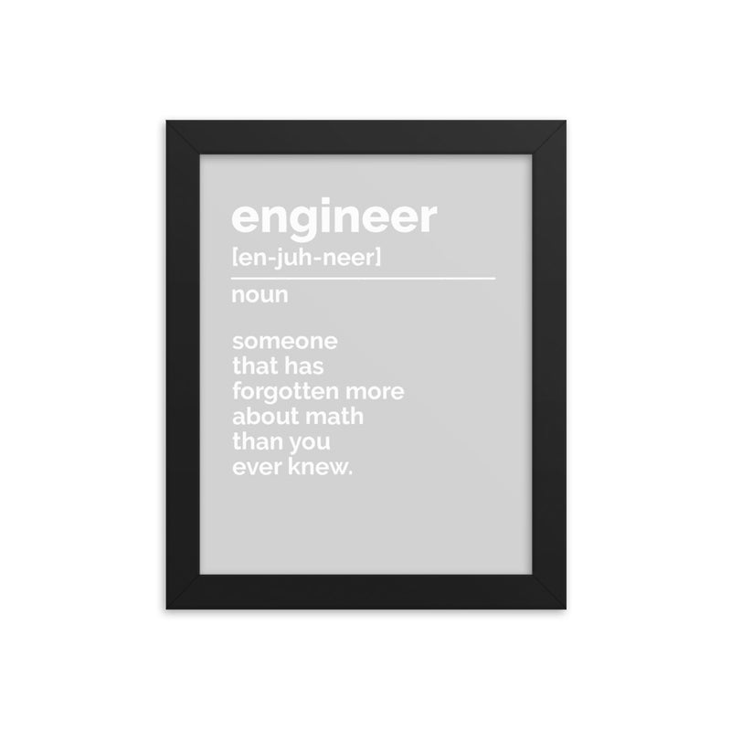 Engineer Definition Print