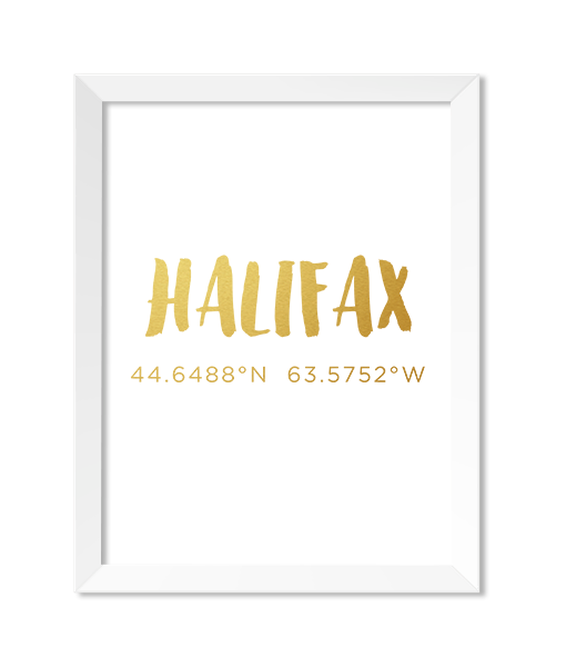Halifax Gold Foiled Print