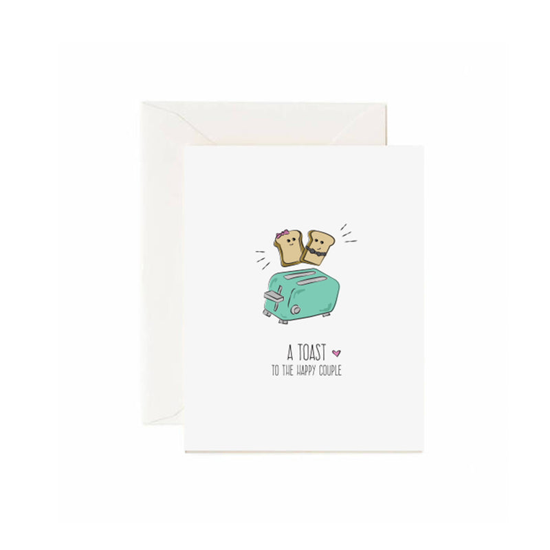 A Toast To The Happy Couple - Greeting Card
