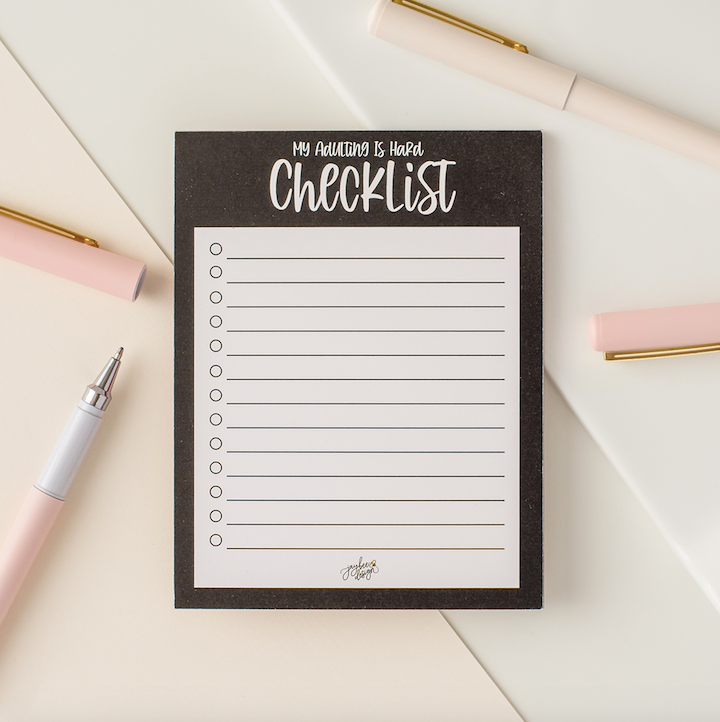 My Adulting Is Hard Checklist - 25pg Notepad