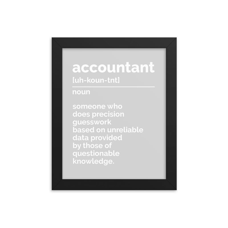 Accountant Definition Print