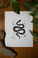 Slither Block Print