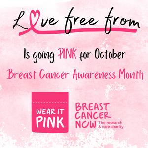 Support Breast cancer now with love free from. every order placed in october we will donate £1