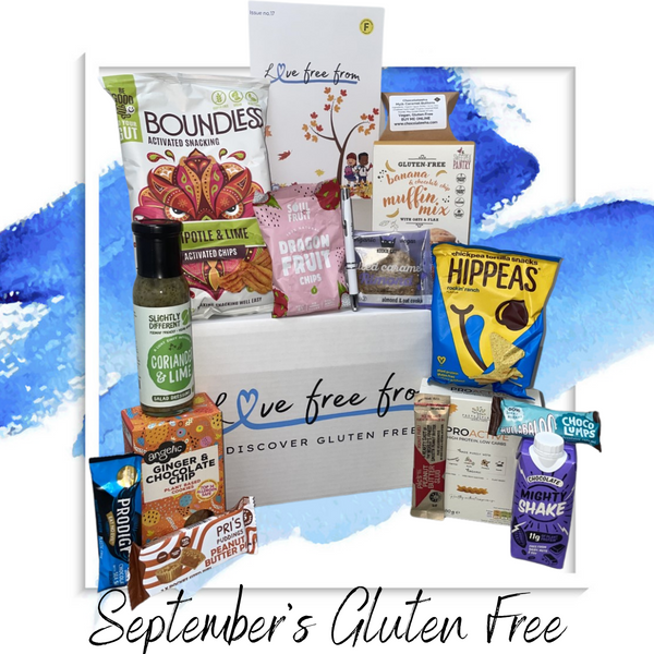 Gluten and dairy free subscription box to discover new foods and snacks every month