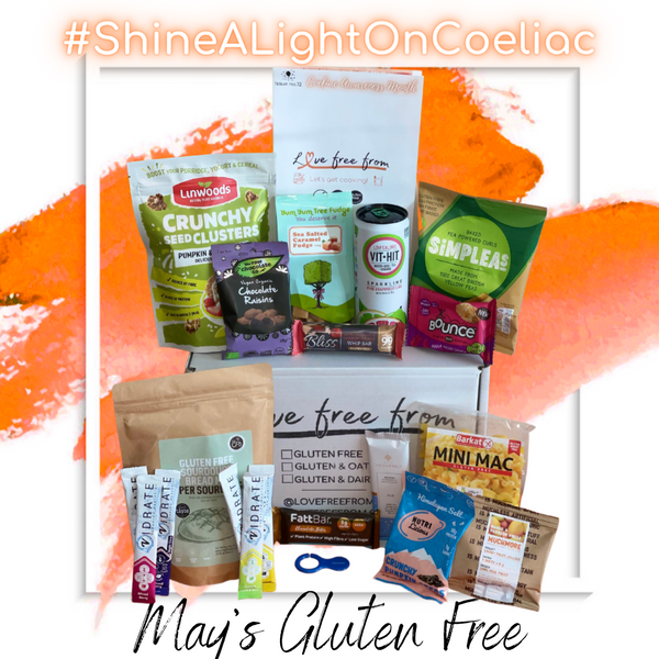 Gluten free subscription box to discover new foods and snacks every month