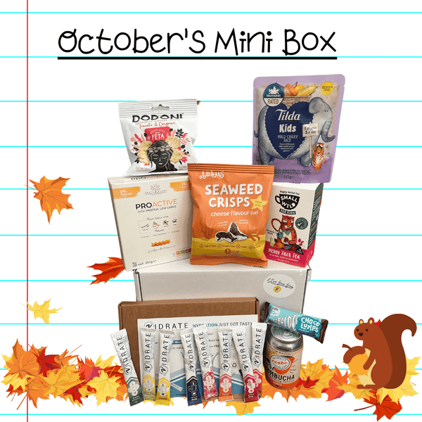 Gluten and oat free discovery box for new foods and snacks every month