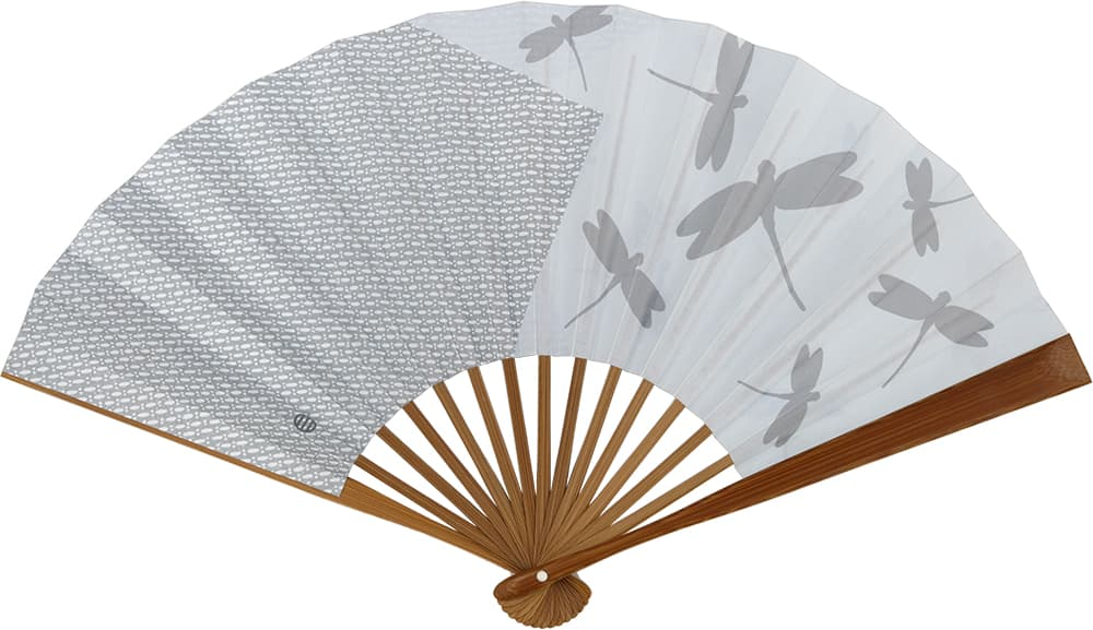 Edo Sensu No.24 Double-sided Pattern Dragonfly Blue