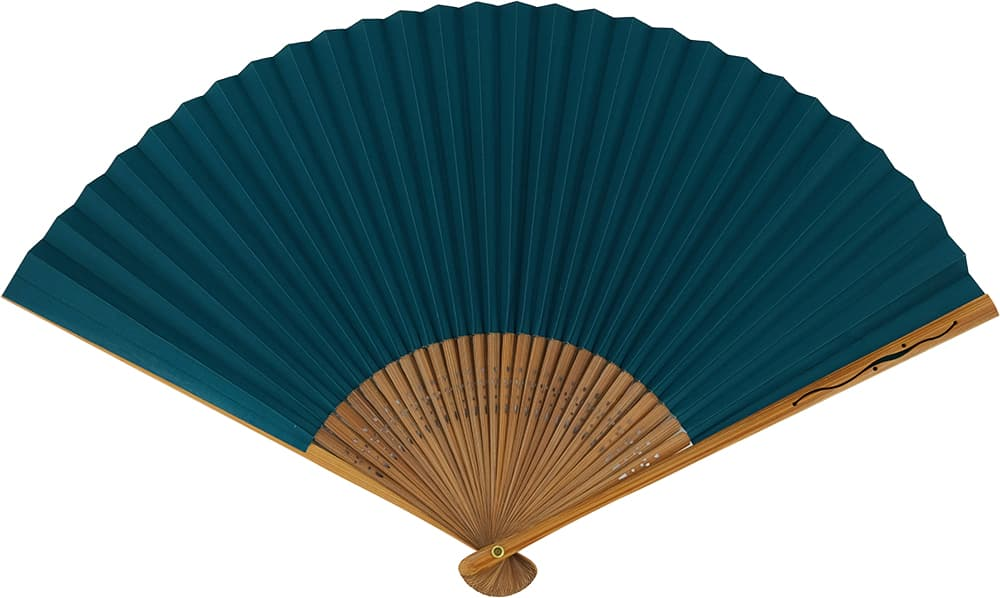 Shikebiki Folding Fan Kasumi Green for Gentlemen