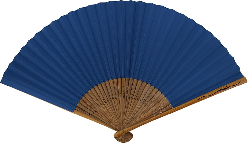 はなだ men's out of the しけびき folding fan haze
