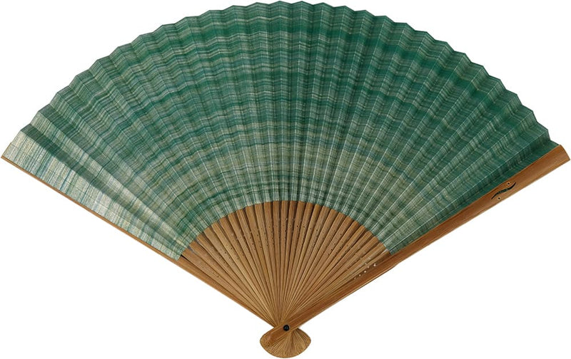 Shikebiki Folding Fan Green for gentlemen