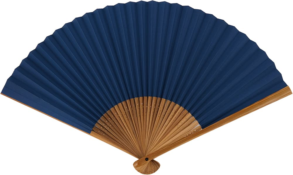 はなだ men's out of the しけびき folding fan