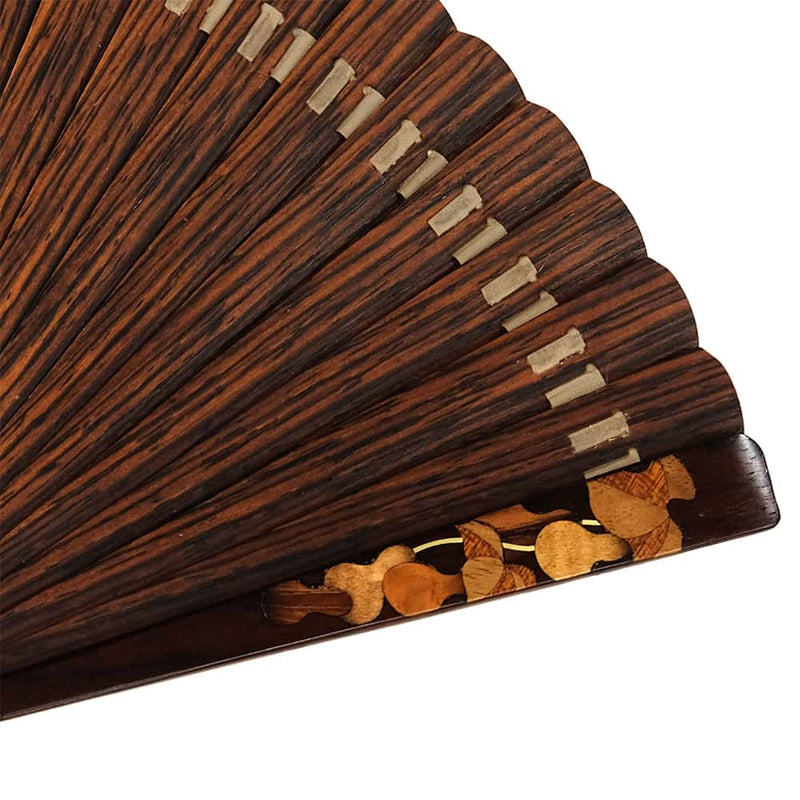 Overseas production folding fan VALEDO/ ヴァレド (Spain) leather folding fan case, paulownia treasuring