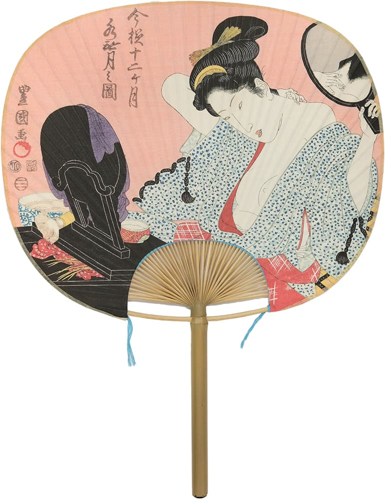 Edo Uchiwa now 12 months Toyokuni Minazuki (June in the lunar calendar)