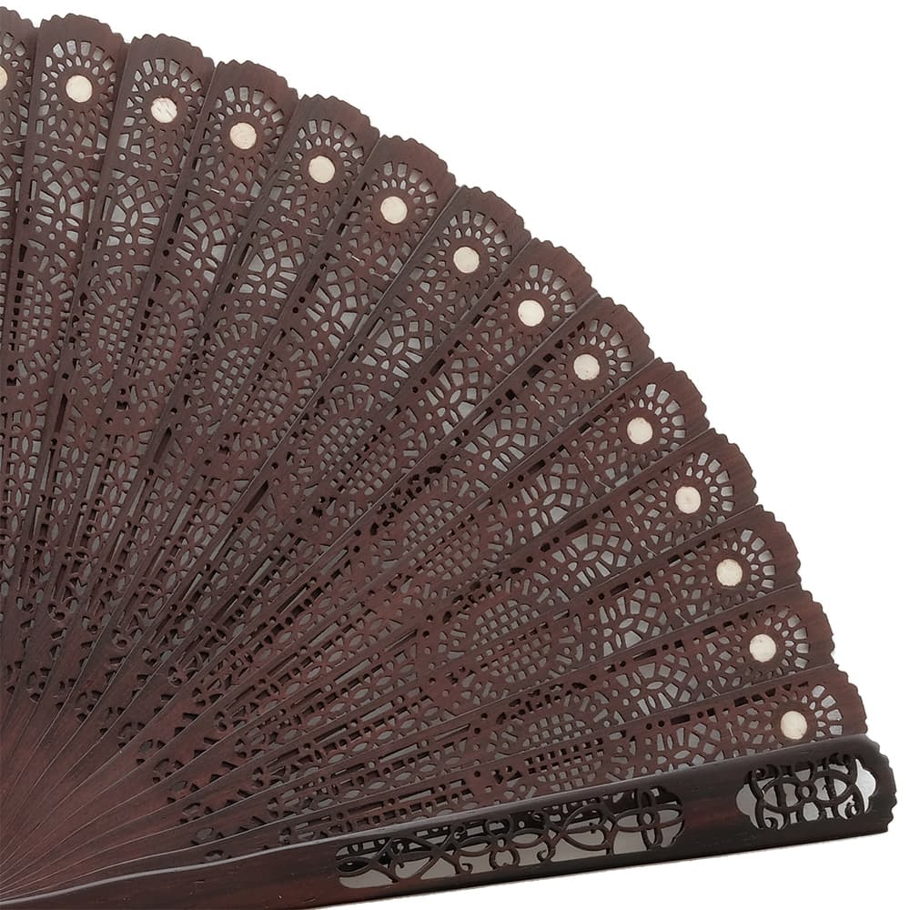 Overseas production fan Rosewood fan with paulownia box