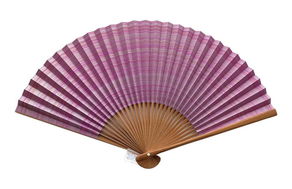 Shikebiki Sensu double-sided pattern purple for ladies