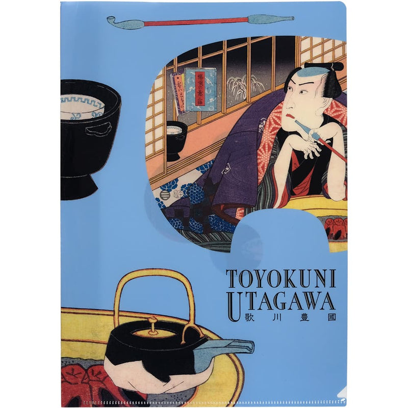 Toyokuni Utagawa carving bamboo clear file